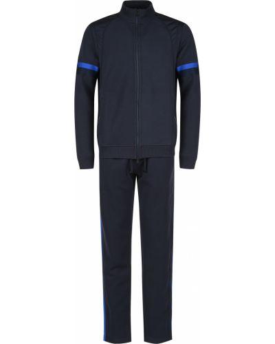 Хлопковый спортивный костюм - синий Bogner