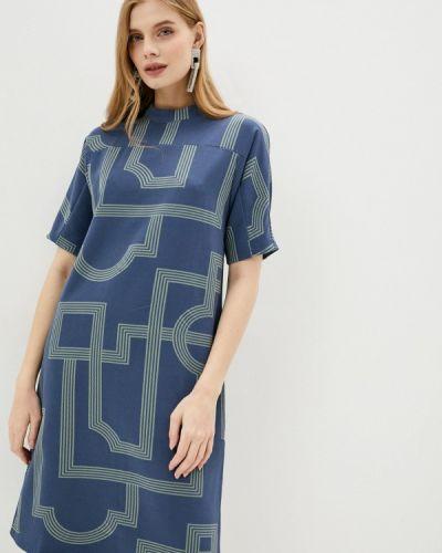 Синее прямое платье Incity