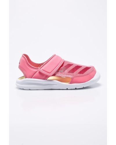 Розовые босоножки текстильные Adidas Performance