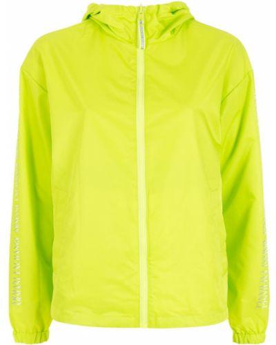 Куртка с капюшоном - зеленая Armani Exchange