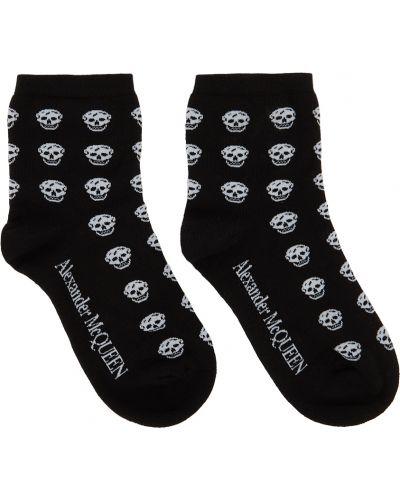 Белые носки с узором Alexander Mcqueen