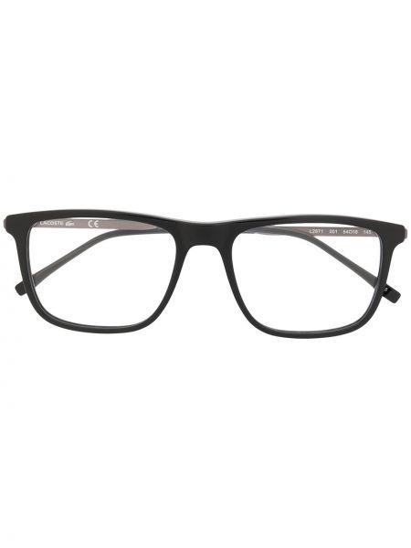 Prosto czarny oprawka do okularów metal plac Lacoste