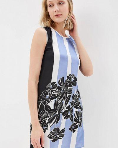 Прямое синее платье Sisley