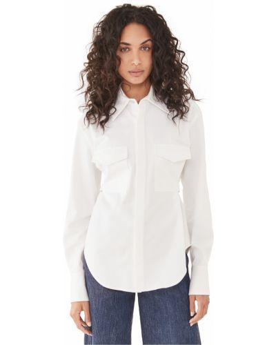 Biała koszula bawełniana z długimi rękawami Dion Lee