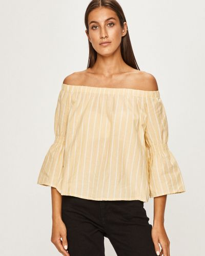 Блузка с открытыми плечами спущенная прямая Review