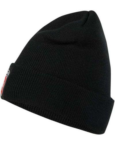 Miękki czarny czapka z paskami Wellensteyn
