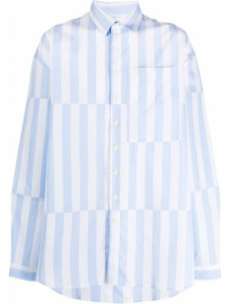 Koszula z długim rękawem klasyczna z paskami Sunnei