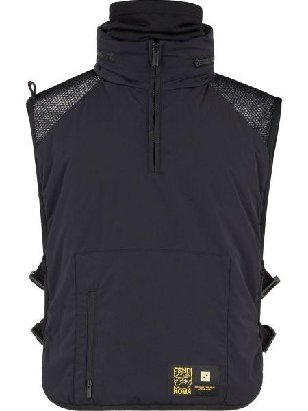 Czarna kamizelka z printem Fendi
