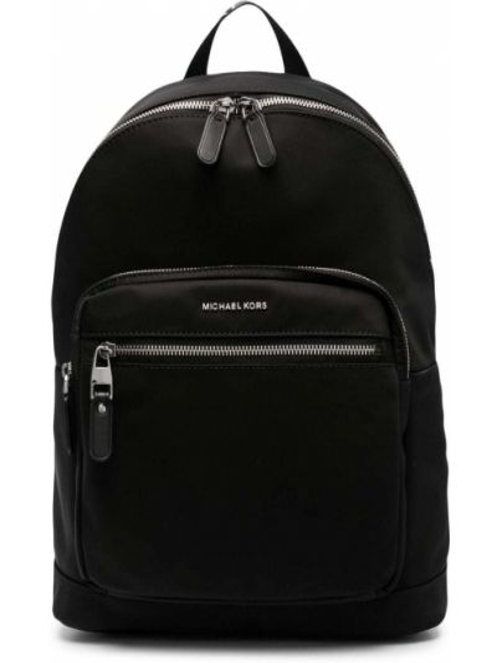 Черный рюкзак металлический с карманами Michael Kors