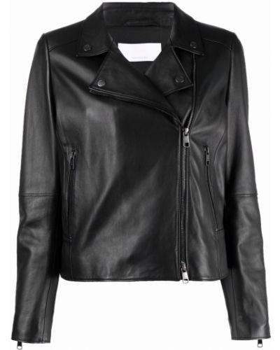 Черная приталенная куртка Boss