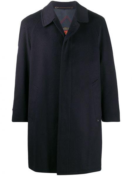 Синее пальто классическое с воротником с рукавом реглан A.n.g.e.l.o. Vintage Cult