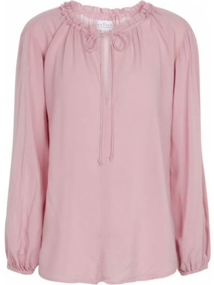 Бархатная розовая блузка Velvet