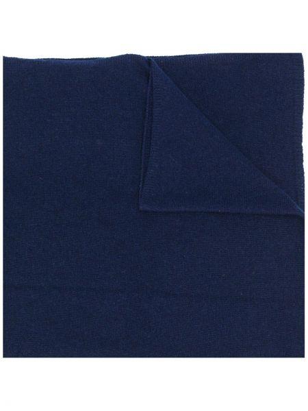 Облегченная кашемировый синий шарф вязаный Liska