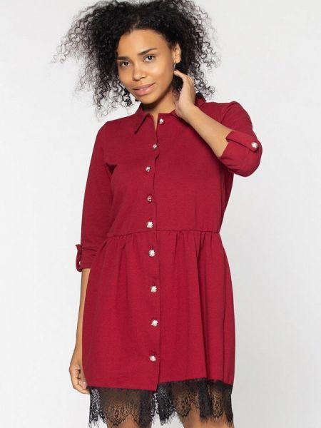 Платье бордовый платье-рубашка Kidonly