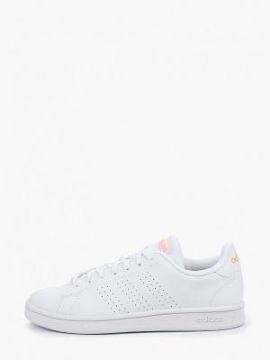 Кеды белые из искусственной кожи Adidas