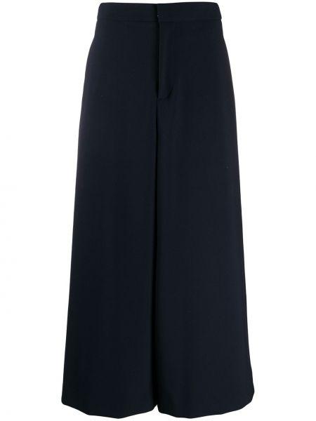 Szerokie spodnie z wysokim stanem niebieskie Enfold