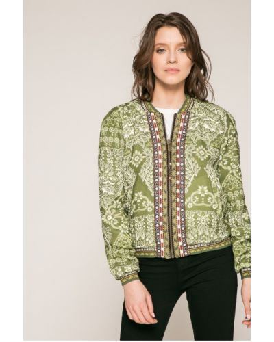 Утепленная куртка с карманами зеленая Desigual