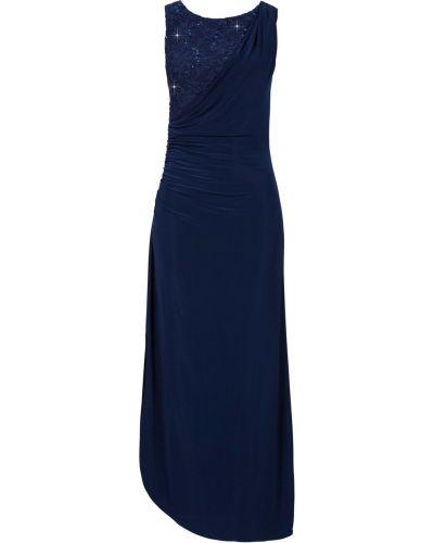 Платье макси ажурное мерцающее Bonprix