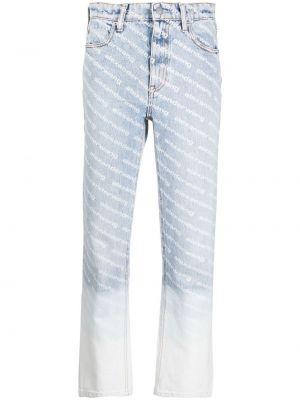Хлопковые синие джинсы классические с карманами Alexander Wang