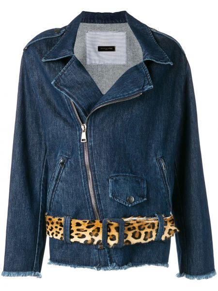 Синяя джинсовая куртка на молнии Simonetta Ravizza