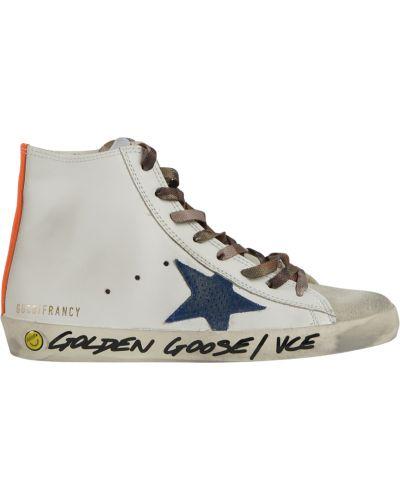 Sneakersy wysokie - białe Golden Goose
