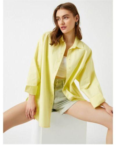 Koszula oversize - żółta Koton