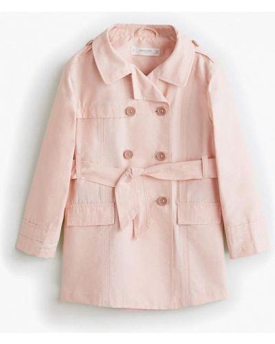Пальто розовый Mango Kids