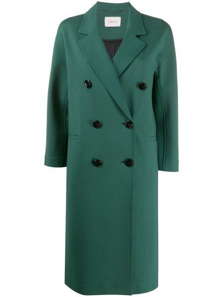 Зеленое длинное пальто двубортное на пуговицах Dorothee Schumacher