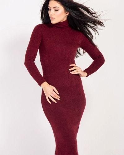 Платье осеннее красный Bessa