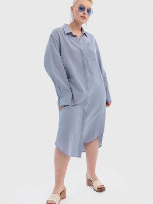 Платье рубашка - голубое W&b