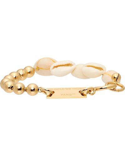 Bransoletka łańcuch - biała In Gold We Trust Paris