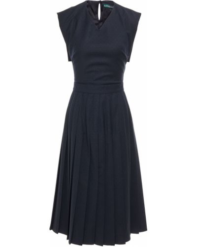 Niebieska sukienka midi wełniana Alexachung