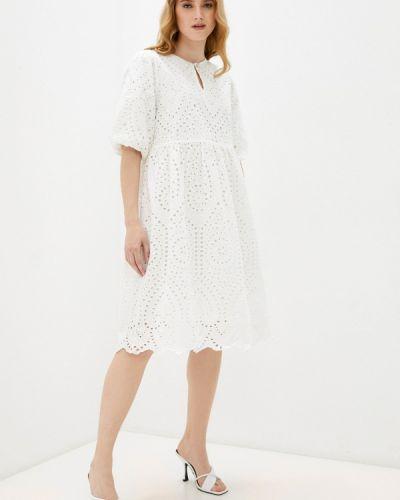 Белое прямое платье Ichi
