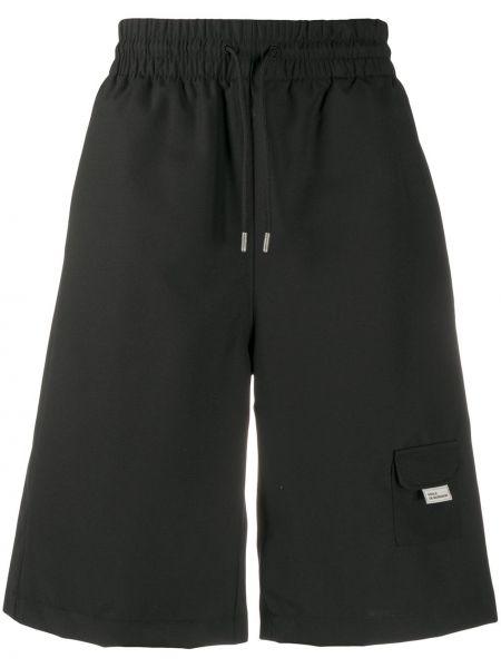 Czarne krótkie szorty wełniane Drole De Monsieur