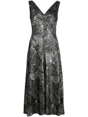 Платье миди с открытой спиной с V-образным вырезом Paco Rabanne