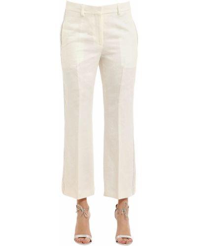 Льняные брюки - белые Calvin Klein Collection