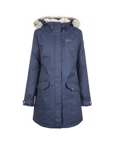 Утепленная куртка с капюшоном длинная Columbia