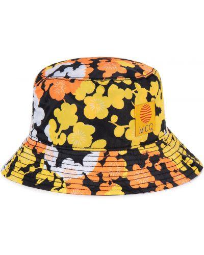 Czarny kapelusz z printem Mcq Alexander Mcqueen
