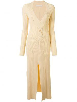 Платье миди с V-образным вырезом - бежевое Dion Lee