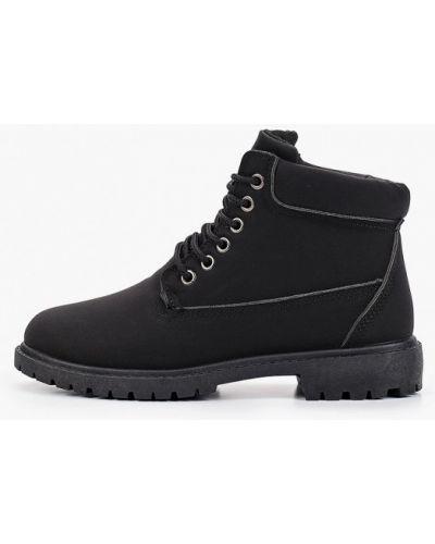 Туфли на каблуке черные из нубука Ws Shoes