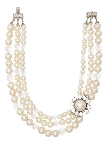 Naszyjnik perły srebrny Alessandra Rich