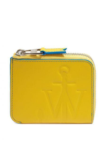Żółty portfel skórzany Jw Anderson