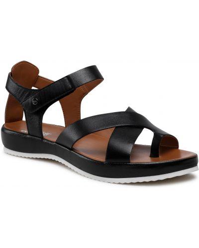 Sandały skórzane - czarne Ara