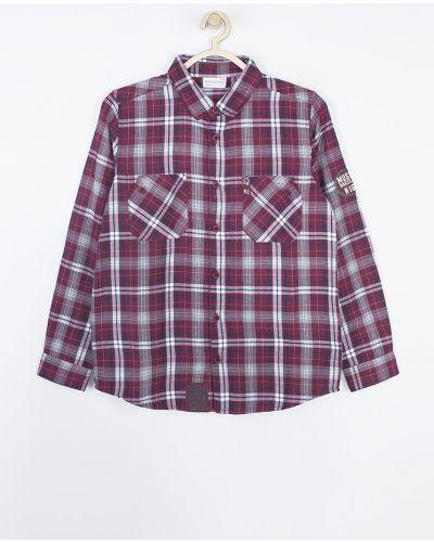 Рубашка с узором фиолетовый Coccodrillo