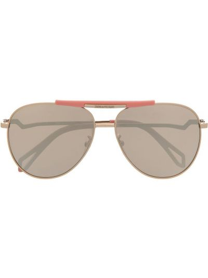 Złote okulary Zadig&voltaire