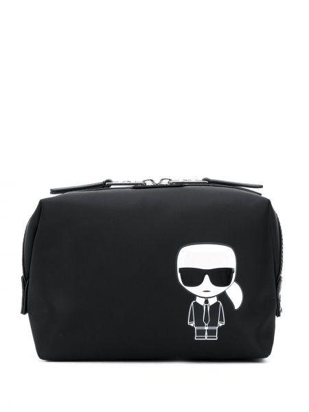 Поясная сумка с логотипом - черная Karl Lagerfeld