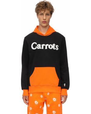 Czarna bluza z kapturem bawełniana Carrots