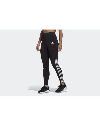 Czarne legginsy bawełniane Adidas