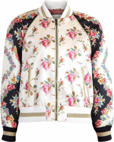 Куртка на резинке на молнии Gucci