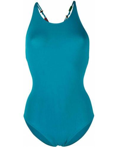 Синий пляжный слитный купальник на бретелях Eres